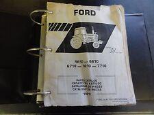 Ford 5610-6610  6710-7610-7710 Parts Catalog   1981