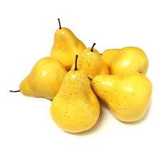 ALEKO 6 Pears Artificial Lifelike Plastic Home Decor Fake Fruits