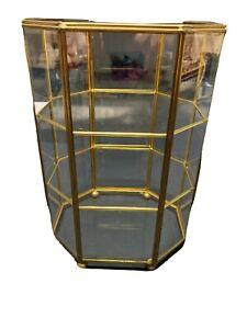Vintage Brass & Glass Display Cabinet