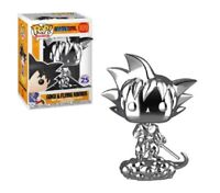 Silver Chrome Goku on Flying Nimbus Funko POP Vinyl New in Mint Box + Protector