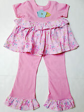 Baby Lulu Ruffle Pant Set Size 3T~New Tags~Simone Line~Cotton