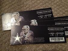 Dallas Cowboys vs Atlanta Falcons 9/27/15 Unused Ticket
