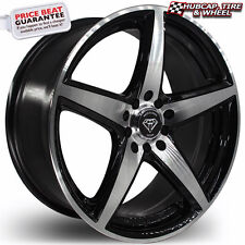 "White Diamond 244 17""x7.5 Black Machined Custom Wheels Rims (x 4) FREE SHIPPING"