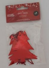 Christmas Gift Tags - Red Christmas Tree - Pack 10 - Brand New