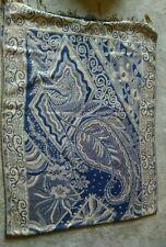 Evening wedding party shawl wrap scarf gold /  blue