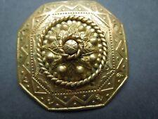Etruskian ? See Descrip N716 Antique Brooch Feur Vergoldet