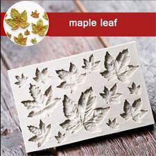 DIY Sugarcraft Cake Decor Maple Leaves Mould Shaping Silicone Fondant Mold