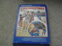Vintage 1979 Mattel Intellivision NBA Basketball Video Game Cartridge w Box 2615