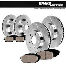 Front + Rear Drill Slot Brake Rotors & Ceramic Pads For 2008 - 2017 Nissan Rogue