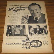 1951 Vintage Ad Blatz Beer Milwaukee's Finest Actor George Sanders
