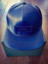 NWT Authentic BUSCEMI Postback Leather Hat with Box