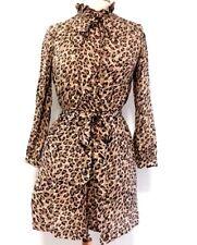 Ann Taylor LOFT Womens Dress sz 0 Animal Print Long Sleeve Belt high neck  C33