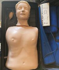Laerdal Resusci Anne Adult CPR Medical Training Manikin Torso w/Case Skill Guide