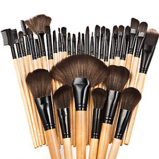 32pcs Soft Natural Cosmetic Eyebrow EyeShadow Makeup Brush Tool Set Kit Bag