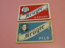 2 losse speelkaarten / 2 single playing cards / 2 cartes  Belgisch Bier Krüger