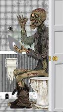 Door Cover- Restroom Zombie Plastic Wall Mural Halloween Decoration D�cor