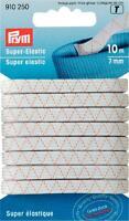 Prym Super-Elastic geflochten 7 mm Gummiband Hosenband weiß 10m   910250