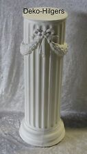 Säule Blumensäule Tisch Design Barock Säulen Antik Stuckgips Deko 1019 Crem