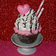 Neapolitan Fake Cupcake Shabby Cottage Chic Party Home Decor Food Cake Props