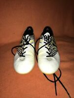 Warrior Gambler Firm Ground Football Boots Size 5.5 Uk Used  Yellow White