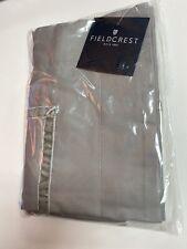 Fieldcrest Grey standard pillow sham Velvet trim accent  Cotton tencel blend