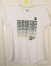 COLORADO STATE RAMS UNDER ARMOUR GREEN HEAT GEAR WHITE FITNESS WORKOUT T SHIRT