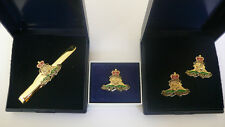 ROYAL ARTILLERY CUFFLINKS, TIE SLIDE, LAPEL PIN,CAN PURCHASE SEPARATELY OR INDIV