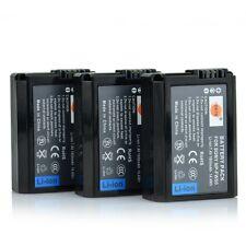 DSTE 3x NP-FW50 Battery for Sony NEX-3C NEX-3D NEX-5 NEX-5A RX10 II Alpha A7