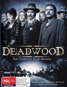 Deadwood Season 3 (4DISC BOX-SET) Brand New, Region: 4