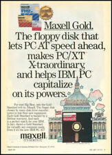 1985 hi-tech ad for Maxell Gold Floppy Disks