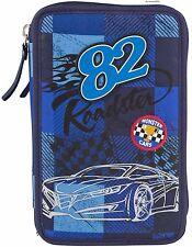 Depesche  6521  Monster Cars 3-fach Federtasche 82 Roadster / Karo, gefüllt, NEU