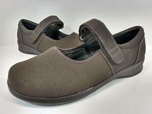 Aetrex Berries Womens Mary Janes E391W Size 9.5 XW Brown Boho Comfort Shoes