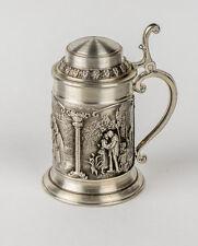 SKS Pewter Zinn 95% Mini Lidded Stein Mug Germany Souvenir Shot Glass Mint