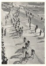 WWII GERMAN Large 36 OLYMPIC Sports Photo Image- 100km Bicycle Race- 21 Nations