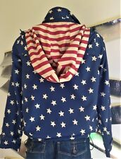 Stars and Stripes lightweight windbreaker vintage style unisex (S/M mens 14 Wom)