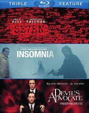 Seven / The Devils Advocate / Insomnia (Blu-ray Disc, 2014, 3-Disc Set)