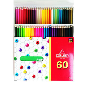 Colleen Colored Pencils 60 Colors With 10 Neon