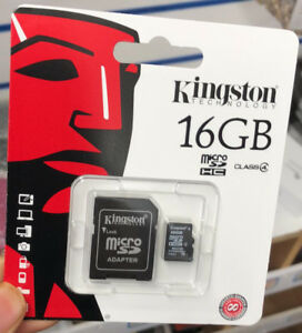 Kingston Micro SD 16GB SDHC Memory Card SD TF Mobile Phone Class 4 with Adapter