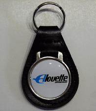 Reproduction Vintage Alouette Snowmobile Medallion Style Leather Keychain