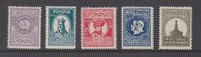 Romania Sc B21 - B25 Royal Geographical Society set Mint Hinged