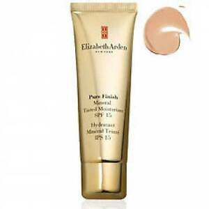 ELIZABETH ARDEN PURE FINISH MINERAL TINTED MOISTURE CREAM  SPF 15~LIGHT #02