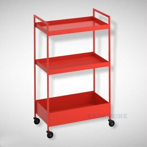 """IKEA NISSAFORS Utility cart Steel with Casters Red/orange 19 7/8x11 3/4x32 5/8"""""""