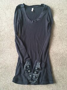 free people thermal Black Smsll