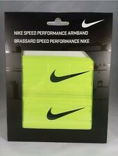 Nike Dri-Fit Speed Performance Armbands Volt/Black-1 Pair (One Size Fits Most)