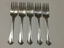 Amster-Kirstz Hotel Plate Silverplate Salad Forks Set Of Five