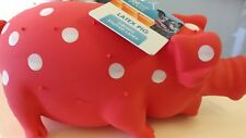 Large dog toy Stuffed Latex Pig Dog Toy NEW free ship Multipet the pig Grunts