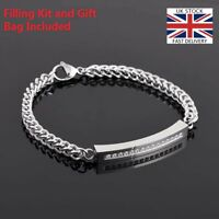 Silver Bracelet Bangle Keepsake Cremation Urn Ashes Funeral Memorial Jewellery