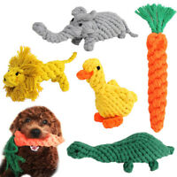 Cute Pet Dog Cat Training Play Funny Braided Rope Chews Bite Interactive Toys