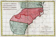 1781 Eastern USA: Carte de la Partie Sud des Etats Unis, by Rigobert Bonne