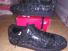 NEW $80 Mens Puma Suede Splatter Metallic Shoes, size 12